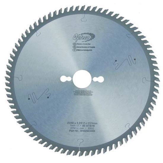 Opteco Saw Blade - 250mm - 80 Teeth