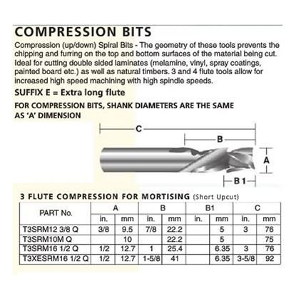 3 Flute Compression For Mortising