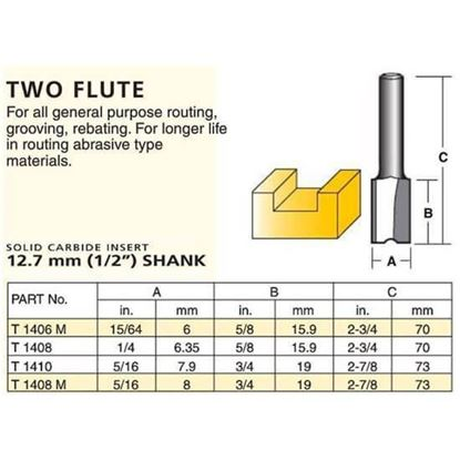 Straight Solid Carbide Insert Router Bit – Two Flute