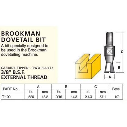 Groove Forming Brookman Dovetail Bit