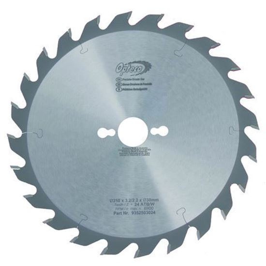 Opteco Saw Blade - 250mm - 24 Teeth