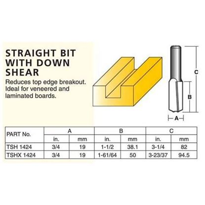 Straight Router Bit With Down Shear