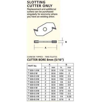 Slotting Cutters – 2 Wing